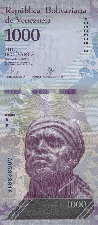 Venezuela P.neu 1000 Bolivares 2016 (1)