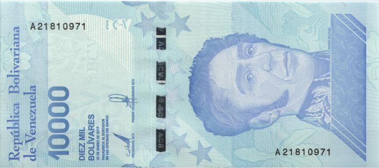 Venezuela P.119a 10000 Bolivares 21.1.2019 (1)