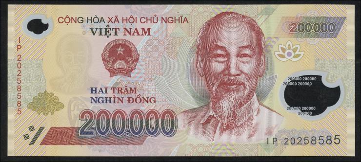 Vietnam / Viet Nam P.Neu 200.000 Dong (2020) Polymer (1)
