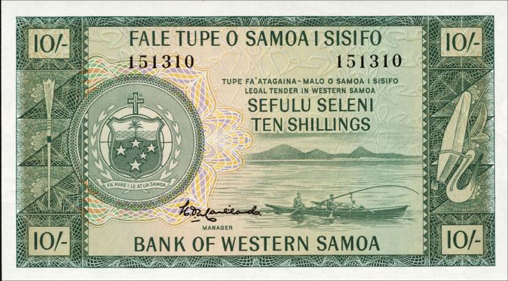 West Samoa P.13 10 Shillings (1963) (1)