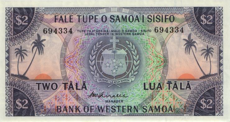 West Samoa P.17b 2 Tala (1967) (1)