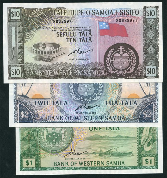 West Samoa P.17-19 1 - 10 Tala (1967) (1)