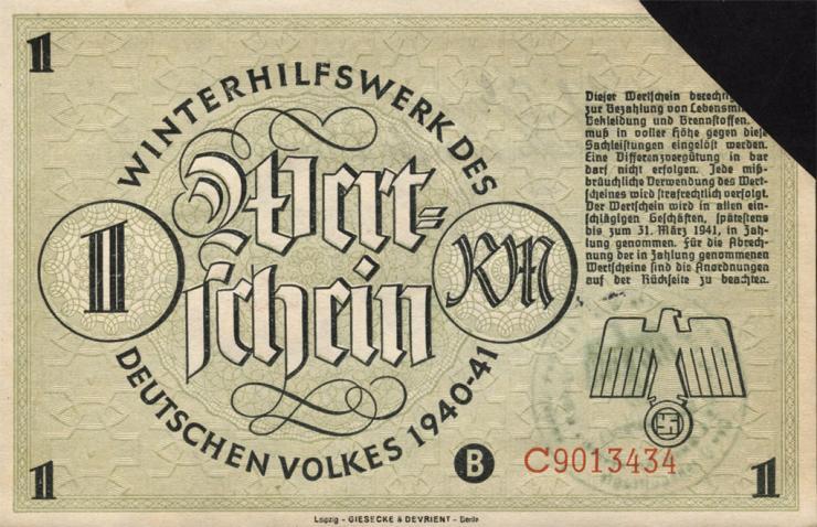 WHW-17 Winterhilfswerk 1 Reichsmark 1940/41 (1)