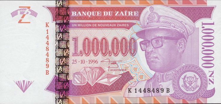 Zaire P.79 1.000.000 Nouveau Zaires 1996 (1)