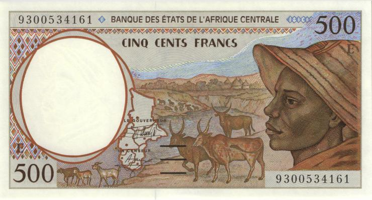 Zentral-Afrikanische-Staaten / Central African States P.201Ea 500 Francs 1993 (1)