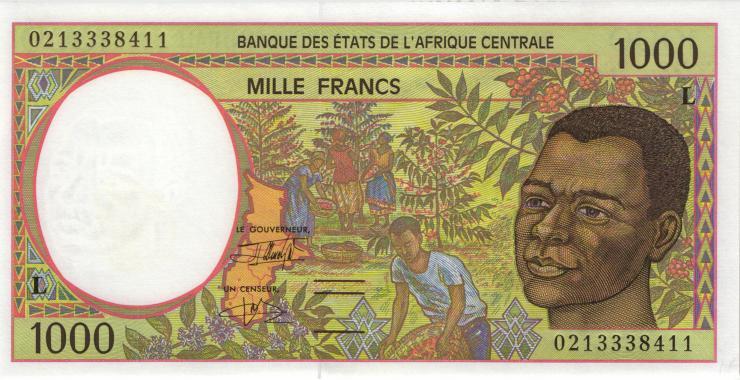 Zentral-Afrikanische-Staaten / Central African States P.402Lh 1000 Fr. 2002 (1)