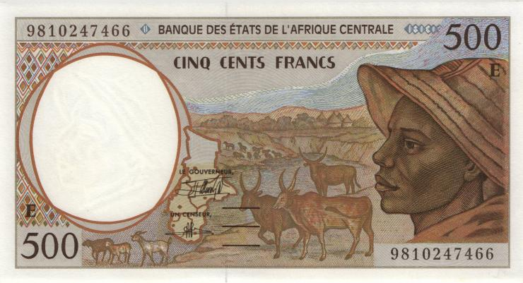 Zentral-Afrikanische-Staaten / Central African States P.201Ee 500 Francs 1998 (1)