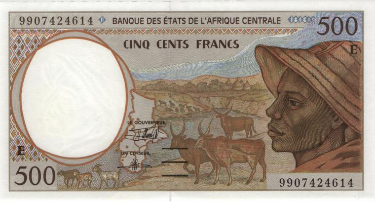 Zentral-Afrikanische-Staaten / Central African States P.201Ef 500 Francs 1999 (1)