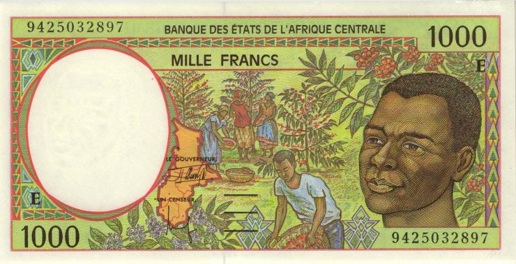 Zentral-Afrikanische-Staaten / Central African States P.202Eb 1000 Francs 1994 (1)
