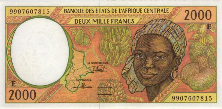 Zentral-Afrikanische-Staaten / Central African States P.203Ef 2000 Francs 1999 (1)