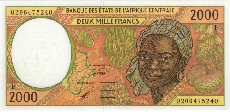 Zentral-Afrikanische-Staaten / Central African States P.203Eh 2000 Francs 2002 (1)