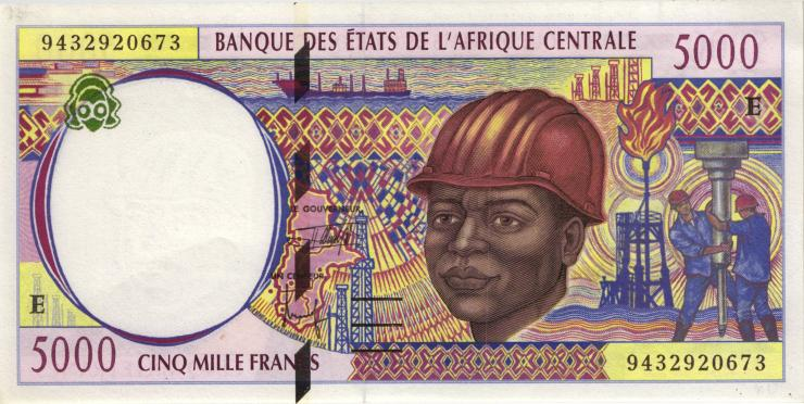 Zentral-Afrikanische-Staaten / Central African States P.204Ea 5000 Francs 1994 (1)