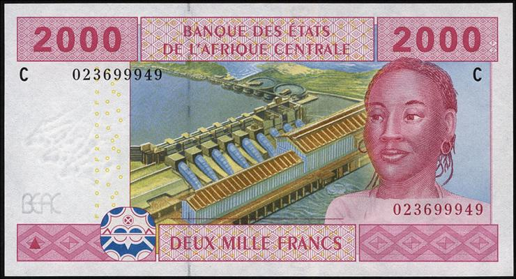 Zentral-Afrikanische-Staaten / Central African States P.608C 2000 Francs 2002 (1)