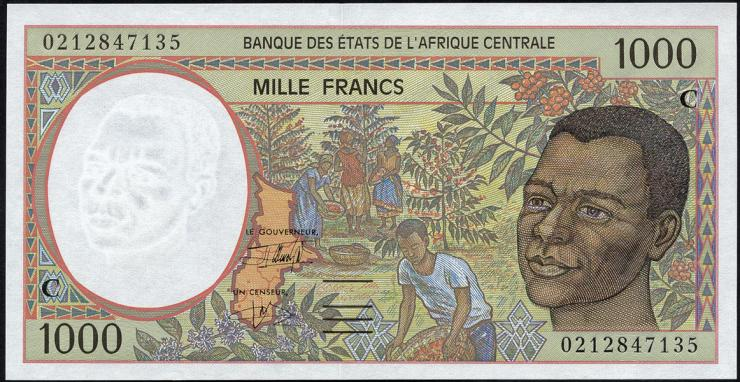 Zentral-Afrikanische-Staaten / Central African States P.102Ch 1000 Francs 2002