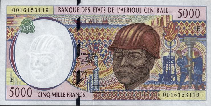 Zentral-Afrikanische-Staaten / Central African States P.204Ef 5000 Francs 2000