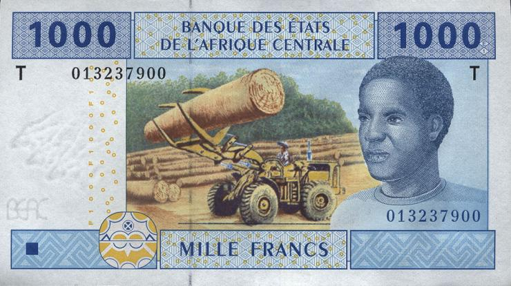 Zentral-Afrikanische-Staaten / Central African States P.107T 1000 Francs 2002 (1)