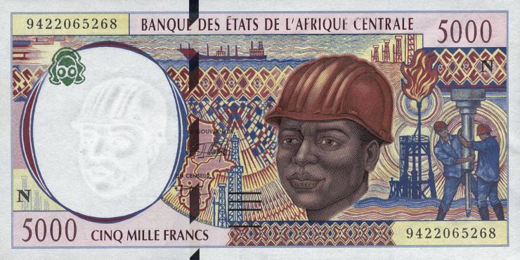 Äquatorial Guinea / Equatorial G. P.504Na 5000 Francs 1994 (1)