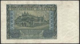 R.576: Generalgouv. Polen 50 Zloty 1940 (3)