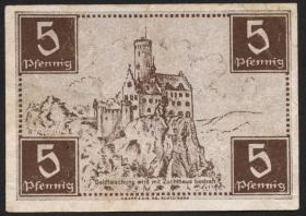 R.214b: Württemberg 5 Pf. 1947 (3)