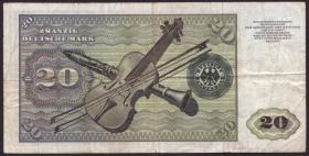 R.271c 20 DM 1970 ZG Ersatznote (3-)