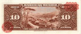 Mexiko / Mexico P.058g 10 Pesos 1959 (1-)