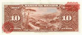 Mexiko / Mexico P.058i 10 Pesos 1961 (1)