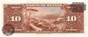 Mexiko / Mexico P.058j 10 Pesos 1963 (1)