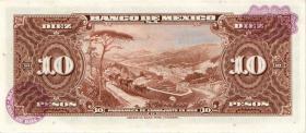 Mexiko / Mexico P.058k 10 Pesos 1965 (1)