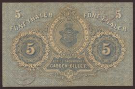 A-397 Sachsen 5 Thaler 1867 (3+)