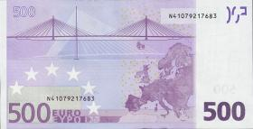 "Griechenland / Greece 500 Euro 2002 N (1) ""Draghi"""