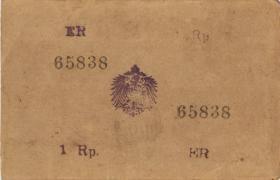 R.936a: Deutsch-Ostafrika 1 Rupie 1917 ER (1-)