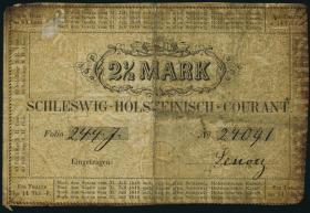 A-488 Schleswig - Holstein 2 1/2 Mark 1848 (4)