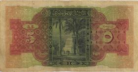 Ägypten / Egypt P.19c 5 Pounds 1945 (4)