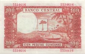 Äquatorial-Guinea P.18 1000 Bipkwele a 100 Pts. Guineanas 1980 (1)