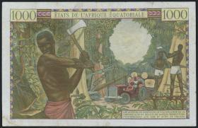 Äquat.-Afrikan.-Staaten P.05g 1000 Francs (1963) (3+)