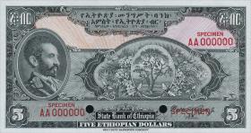 Äthiopien / Ethiopia P.12/17s 1 - 500 Dollars (1945) (1)