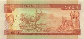 Äthiopien / Ethiopia P.42b 5 Birr (1991) (1)