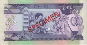 Äthiopien / Ethiopia P.45s 100 Birr (1991) Specimen (1)