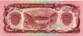 Afghanistan P.58c 100 Afghanis 1991 (1)