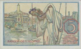 Algerien / Algeria P.094b 5 Francs 1944 (1)