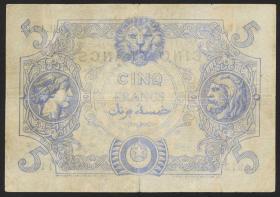 Algerien / Algeria P.071b 5 Francs 17.9.1919 (4)