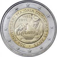 Andorra 2 Euro 2015 Volljährigkeit im Blister