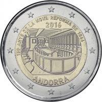Andorra 2 Euro 2016 150 Jahre Neue Reform von 1866 im Blister