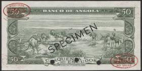 Angola P.088s2 50 Escudos 1956 Specimen (1)