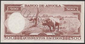Angola P.090s3 500 Escudos 1956 (2) Specimen