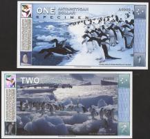 Antarctica 1 - 100 Dollars 1996 Specimen Set (7Werte)