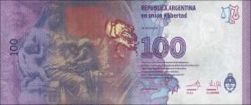 Argentinien / Argentina P.358a 100 Pesos (2012) Evita Peron (1)
