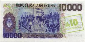 Argentinien / Argentina P.322d 10 Australes (1985) auf 10000 Pesos (1)