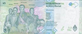 Argentinien / Argentina P.359 5 Pesos (2015) (1)