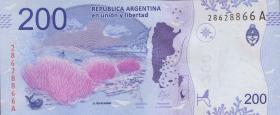 Argentinien / Argentina P.364a 200 Pesos (2016) Serie A (1)